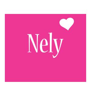 Nely love-heart logo