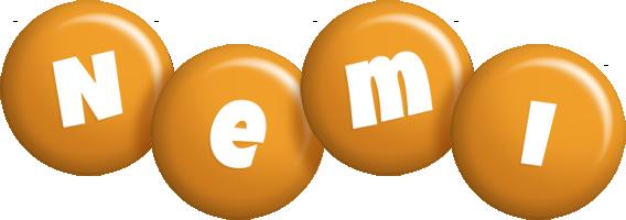 Nemi candy-orange logo
