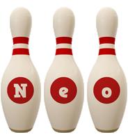 Neo bowling-pin logo