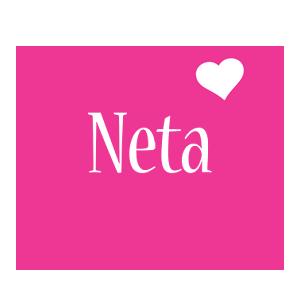 Neta love-heart logo