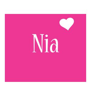 Nia love-heart logo