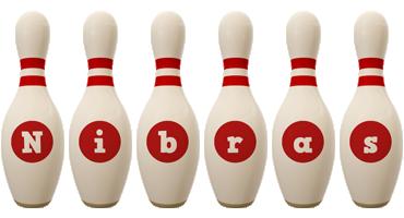 Nibras bowling-pin logo