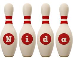 Nida bowling-pin logo