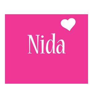 Nida love-heart logo