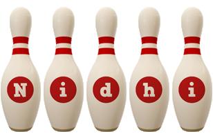Nidhi bowling-pin logo