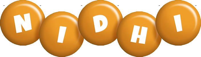 Nidhi candy-orange logo