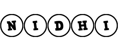 Nidhi handy logo