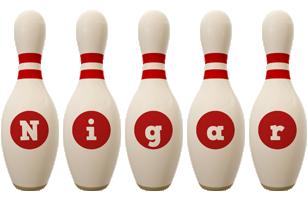 Nigar bowling-pin logo