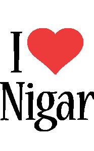 Nigar i-love logo
