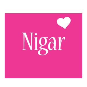 Nigar love-heart logo