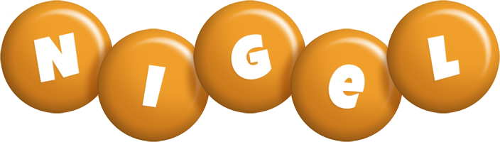 Nigel candy-orange logo