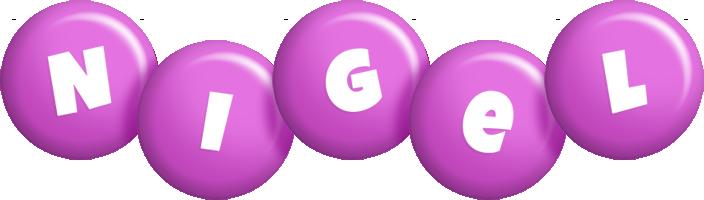 Nigel candy-purple logo