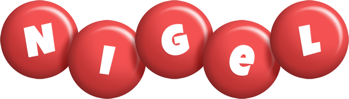 Nigel candy-red logo