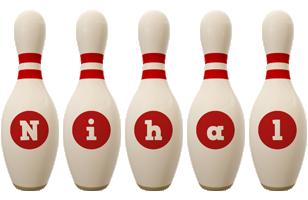 Nihal bowling-pin logo