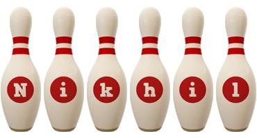 Nikhil bowling-pin logo