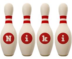 Niki bowling-pin logo