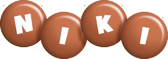 Niki candy-brown logo