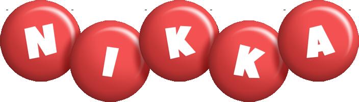 Nikka candy-red logo
