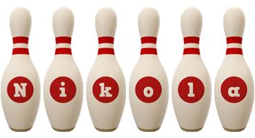 Nikola bowling-pin logo