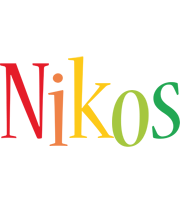 Nikos birthday logo