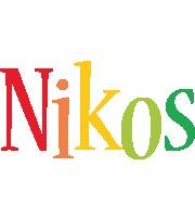 Nikos birthday logo