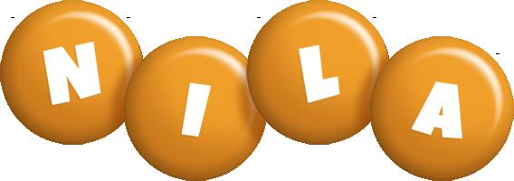 Nila candy-orange logo