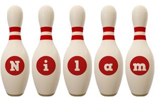 Nilam bowling-pin logo