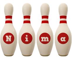 Nima bowling-pin logo