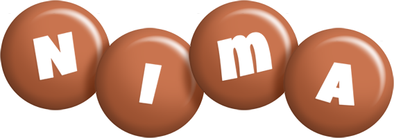 Nima candy-brown logo