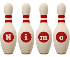 Nimo bowling-pin logo