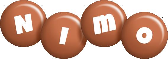 Nimo candy-brown logo