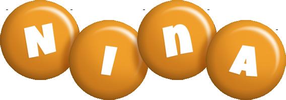 Nina candy-orange logo