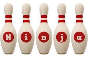 Ninja bowling-pin logo