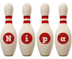 Nipa bowling-pin logo