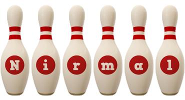 Nirmal bowling-pin logo