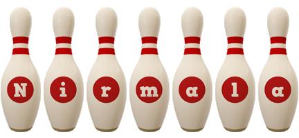 Nirmala bowling-pin logo