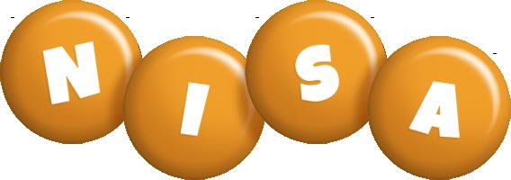 Nisa candy-orange logo