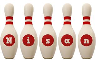 Nisan bowling-pin logo