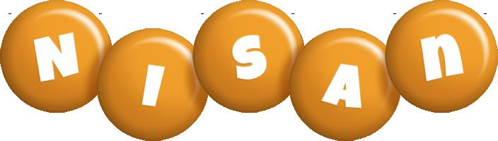 Nisan candy-orange logo