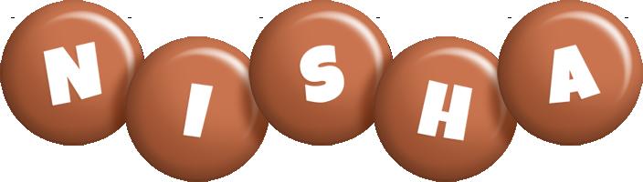 Nisha candy-brown logo