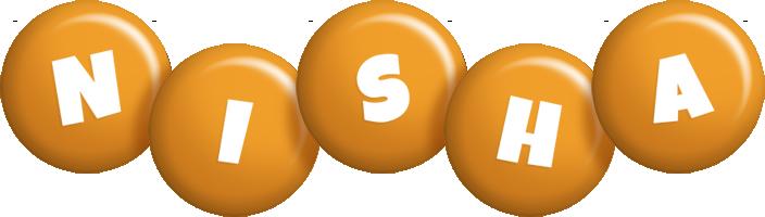 Nisha candy-orange logo