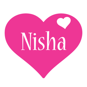 Nisha love-heart logo