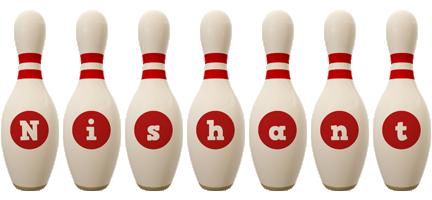 Nishant bowling-pin logo