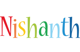 Nishanth birthday logo
