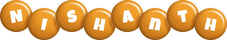 Nishanth candy-orange logo