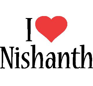 Nishanth i-love logo