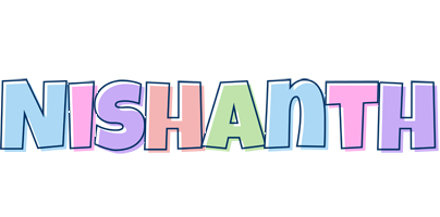 Nishanth pastel logo