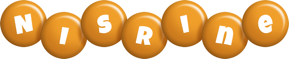 Nisrine candy-orange logo