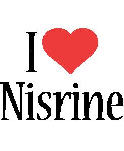 Nisrine i-love logo