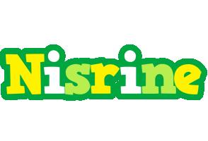 Nisrine soccer logo